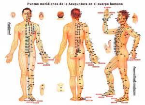 puntos meridianos del cuerpo humano en acupuntura