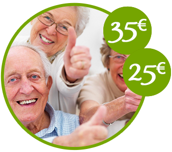 Tarifas para jubilados